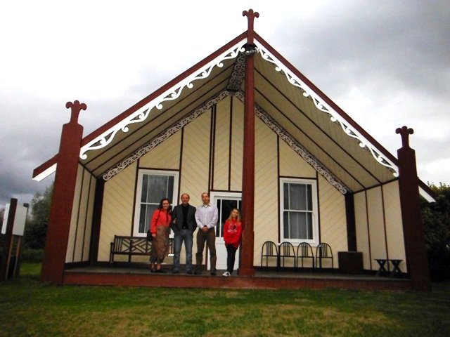 Outside the Marae