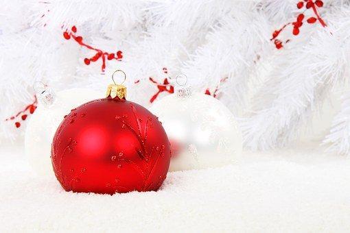 Adorno De Navidad, Rojo, Bola