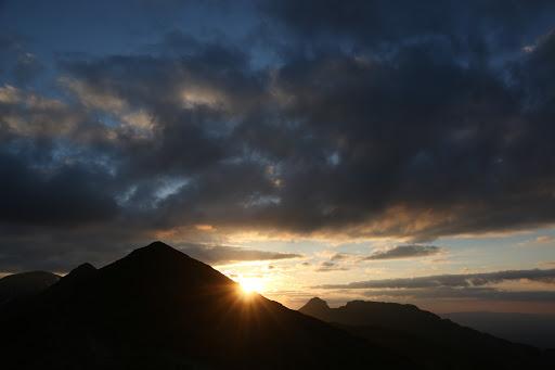 Západ slnka nad Giewontom