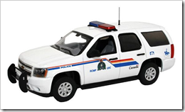 Royal Canadian Mounted Police die-cast car