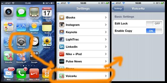 Voice4u v1.2.8 Setting