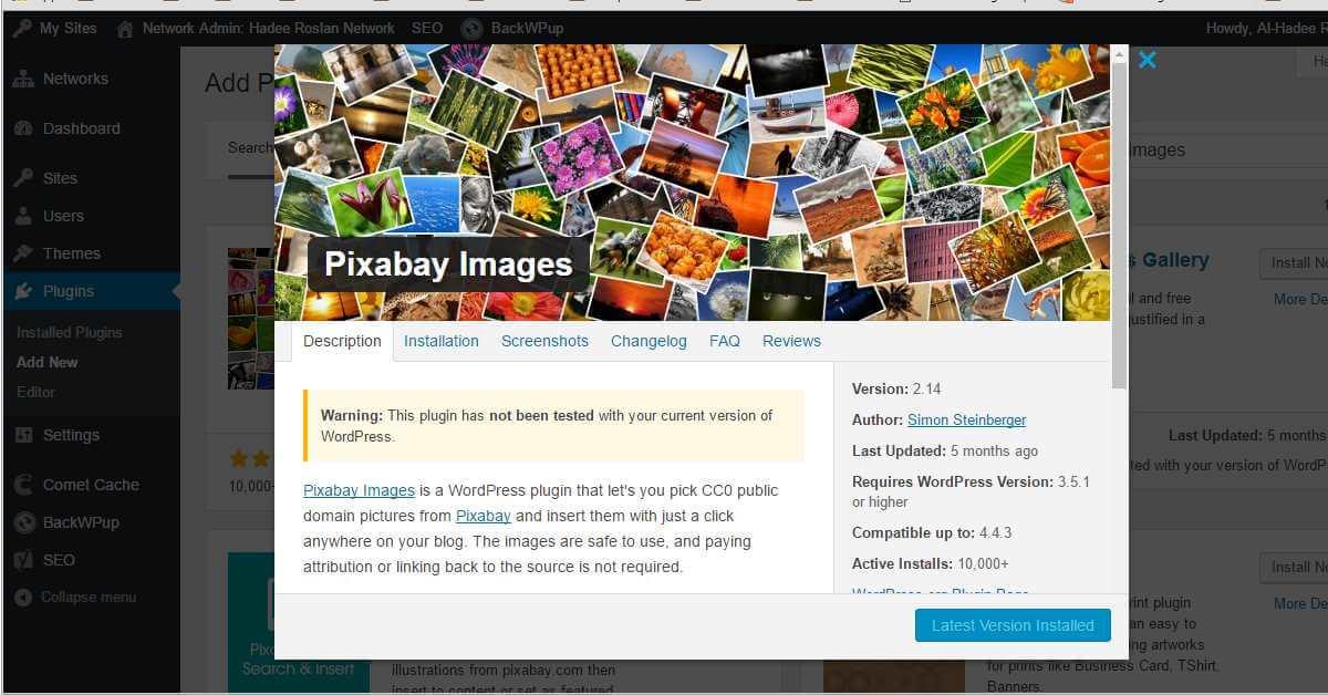 Gambar Percuma Untuk Blog WordPress Anda Dengan Plugin Pixabay Images