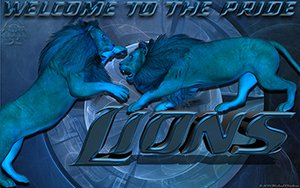 Detroit Lions Welcome to the Pride Wallpaper