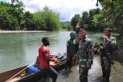Sweeping di Jalur Perairan, TNI Melalui Satgas Pamtas Yonif 403/WP Ajak Masyarakat Tingkatkan Kesadaran Bahaya Miras di Perbatasan Papua