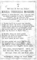 Monden, Maria Theresia Bidprentje.jpg