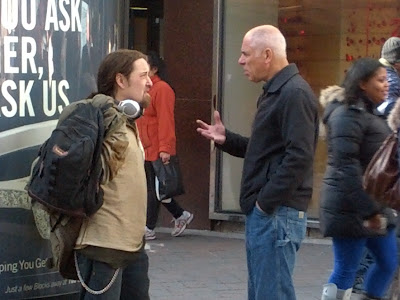This is Richard, a Jewish man. Eric chatted with him for a while and gave him a copy of my testimony.