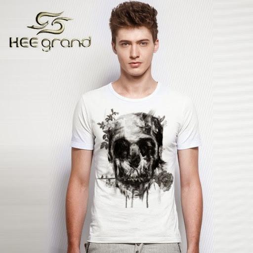 Heegrand Brand Man Tshirt Crossbones Pattern T-shirt Me
