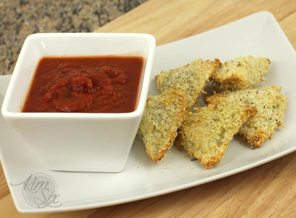 Easy oven toasted ravioli
