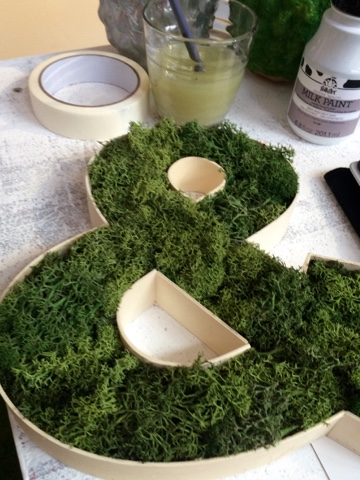 Getting Ready for Easter - Spring Craft Special! create your own moss ampersand
