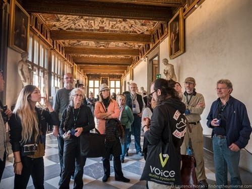 Tour guide walks of Italy Florence Uffizi Gallery