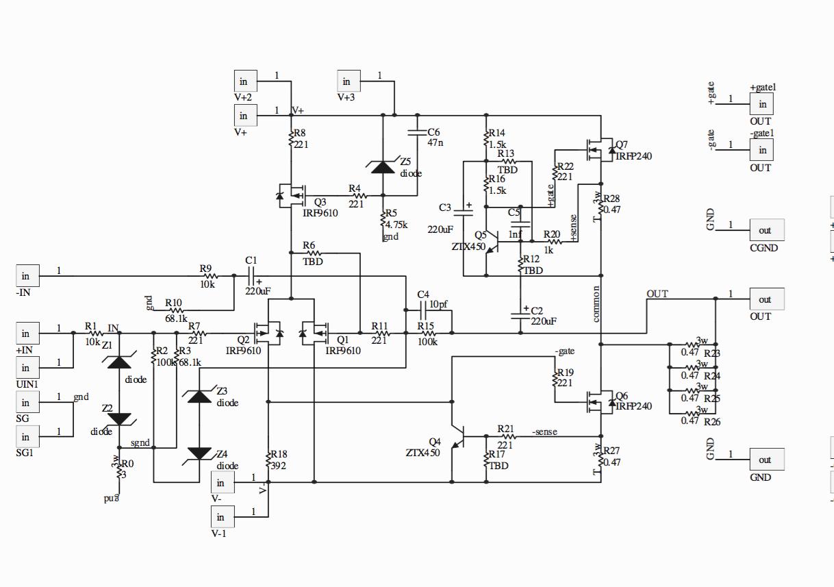 Diy Amplifier Schematic Labs Pass Circuit