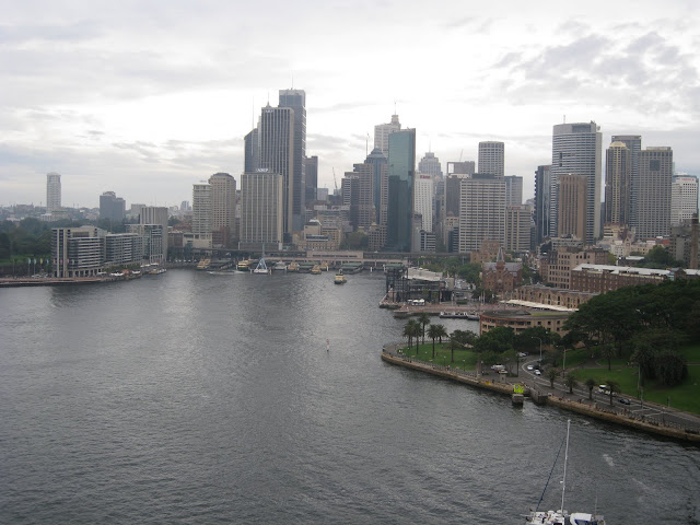 Sydney Harbor taken from the Harbor Bridge