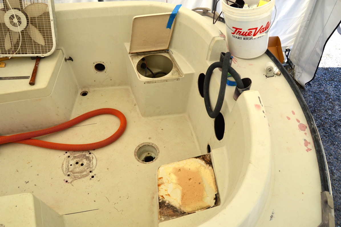 Starboard pit toilet
