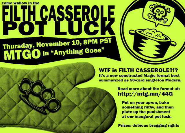 Filth Casserole Pot Luck
