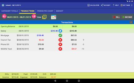 MoBill Budget and Reminder Screenshot 9