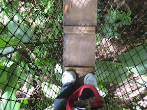 On a rope bridge
