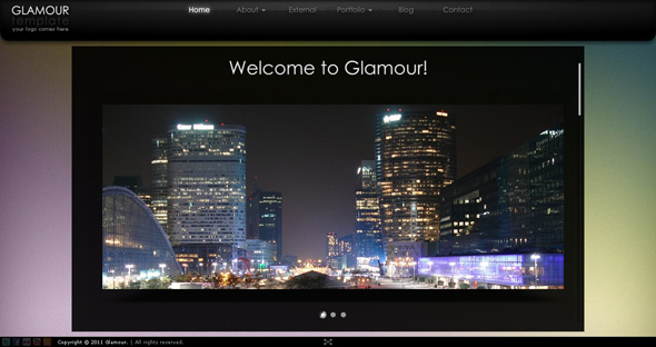 ActiveDen Glamour AS3 XML Website Template