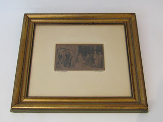 """Rembrandt Etching """"In The Synagogue"""""""