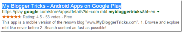 Meta Title Tag preview in Google