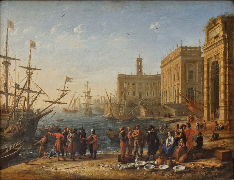 Claude Lorrain - Port with Capitol