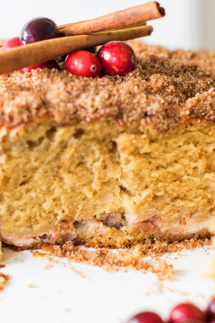 dense but moist coffee cake