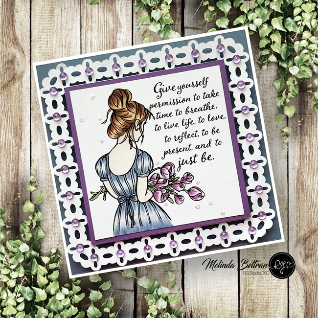 Just Be Girl Square Card Melinda Beltran
