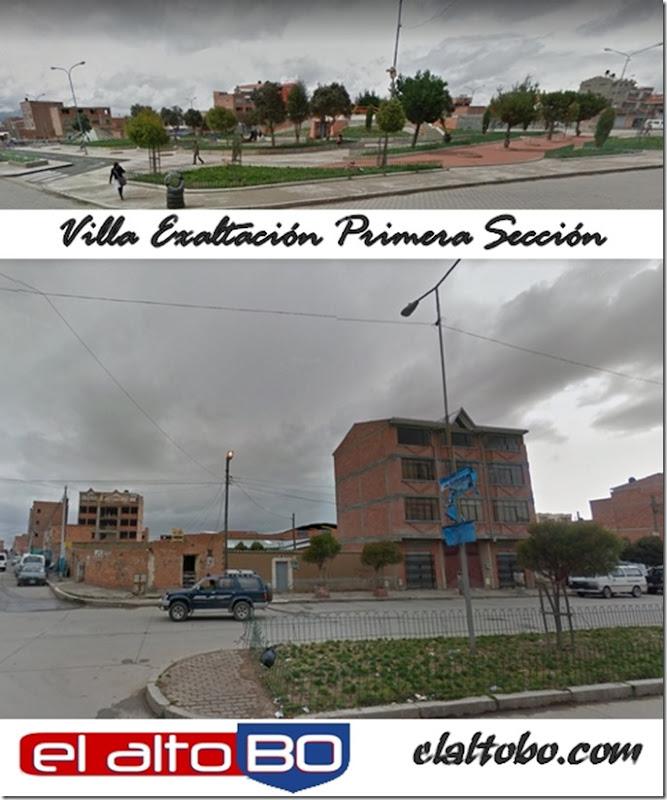 Exaltación Primera Sección: zona del Distrito 1 de El Alto (Bolivia)