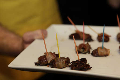 Todd's bacon-wrapped dates