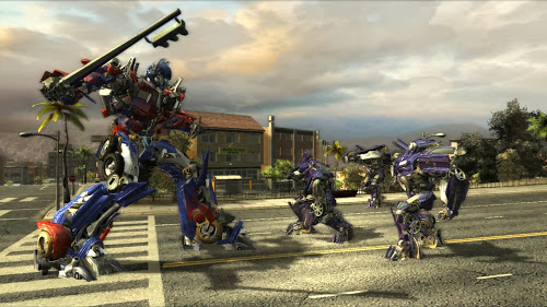 Screen Shot Of Transformers The Game (2007) Full PC Game Free Download at Alldownloads4u.Com