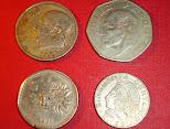 Antiguas monedas mejicanas -lote