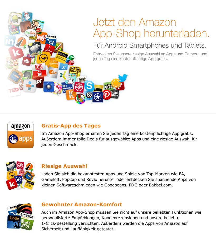 amazon startet seinen app shop f r android in deutschland gwb. Black Bedroom Furniture Sets. Home Design Ideas