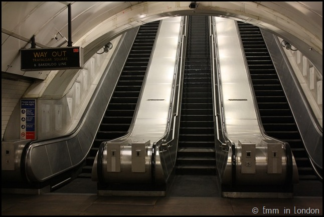 Disused Escalator in Charing Cross Station