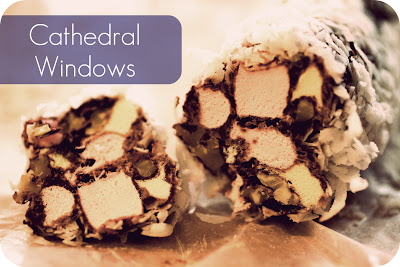 cathedral windows church christmas treats no bake