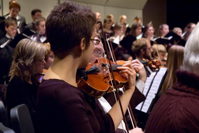 Orchestra members, all of whom are volunteers, range in age from 16 to over 75 and include local music teachers, active and retired professional musicians, and community members from all backgrounds.Credit: Whatcom Symphony