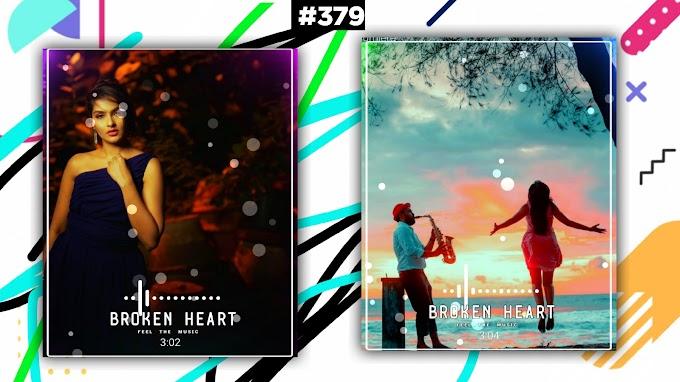 Broken Heart Portrait Visualizer |How To Create Avee Player Visualizer |New Stylish Status Edit|#379