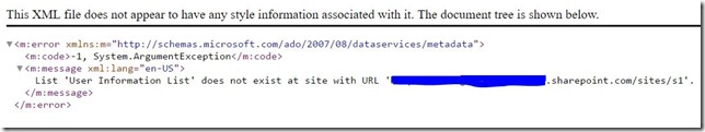 List 'User Information List' does not exist at site with URL