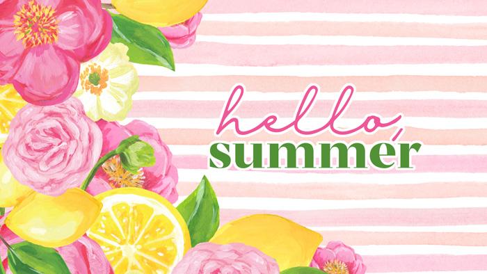 Hello Summer Wallpaper