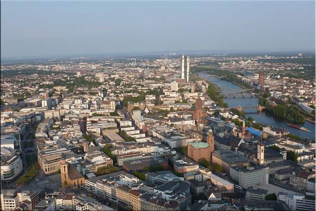 Panorámica de la ciudad desde la azotea del Main Tower