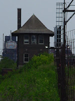 Distillery District, Toronto, June 2004: Train signal box
