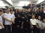 Group photo with Sifu Patrick Leung at his Wing Chun School in Jordan Hong Kong.