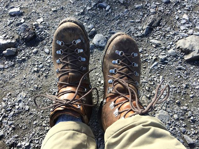 マインドル 革登山靴