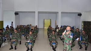 PA OYU Korem 141/Tp Pimpin briefing Penerapan Protokol Kesehatan