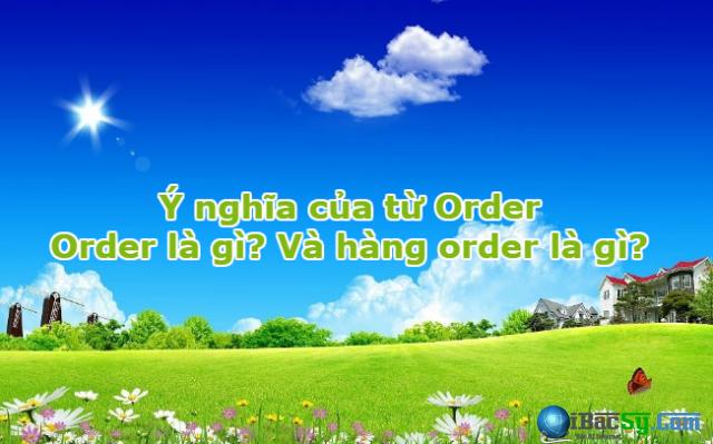 Giải thích ý nghĩa của từ Order Và hàng order là gì? + Hình 1