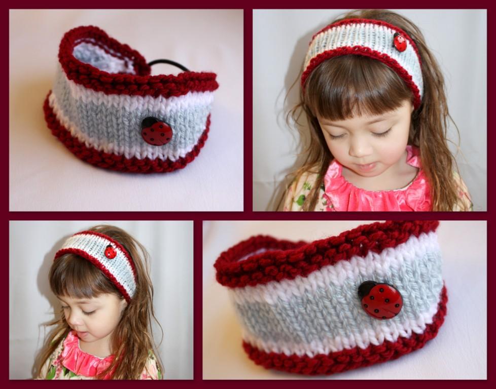 Knitting Ladybug Ladybird Headband : The createry shop knitted headband for toddlers ladybug