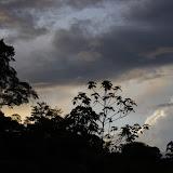 Coucher de soleil après l'orage. Carbets de Coralie (Crique Yaoni), 31 octobre 2012. Photo : J.-M. Gayman