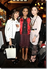 HOLLYWOOD, CA - MARCH 30: (L-R) Actors Rashida Jones, Yara Shahidi, and Rowan Blanchard attend the Coach & Rodarte celebration for their Spring 2017 Collaboration at Musso & Frank on March 30, 2017 in Hollywood, California  (Photo by Donato Sardella/Getty Images for Coach)
