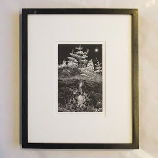 Siri Beckman Signed Wood Engraving 2