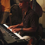 "Once again, the jazz lovers in the Pensacola area gathered at Jambalaya's Grill and Oyster Bar in Gulf Breeze for a fun evening of music and interesting combinations of jazz musicians. Backed up by the ""house band"" of Burt Kimberl (piano), Edmo Lanier (bass), and George Neidorf (drums), the session was led by JSOP president and trumpeter Roger Villines."