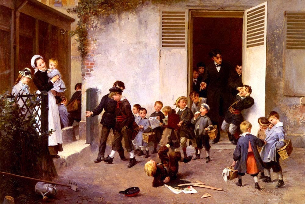 Henry Jules Jean Geoffroy - Class is Over