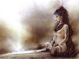Warrior Girl Meditate With Sword